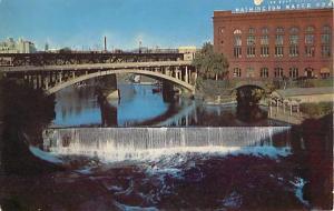 Spokane Falls from Monroe Street Bridge Spokane Washington