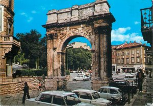 Croatia Postcard Pula arch of the Sergii butterfly stamp