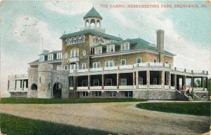 Brunswick Maine~Mini Castle Before The Casino @ Merrymeeting Park~1910 Postcard
