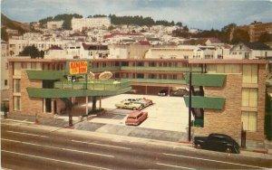 Autos Becks Motor Lodge 1950s Postcard San Marcos California Gillick 9138