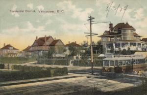 VANCOUVER, British Columbia, Canada, 1909; Residential District, Street Car