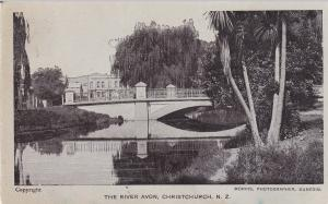 CHRISTCHURCH, New Zealand, 1900-1910's; The River Avon