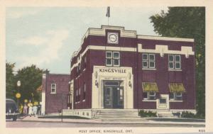 KINGSVILLE , Ontario , Canada , 1930s ; Post Office