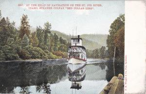 Steamer Colfax Red Collar Line, At the Head of Navigation on the St. Joe River