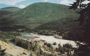 Aerial View of Kootenay River, POwer Plant, 12 Miles West of Nelson, British ...