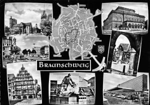 Braunschweig multiviews Burgplatz Hauptbahnhof Gewandhaus Stadtstheater Dom