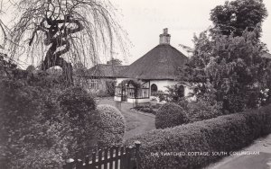 Thatched Cottage South Collingham Yorkshire Real Photo Postcard