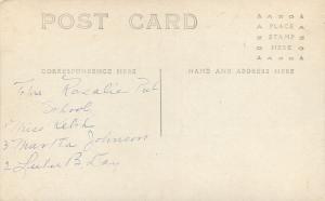 Vintage Real Photo Postcard~Teachers Rosalie School~Victorian Dress~Bluffs~1908