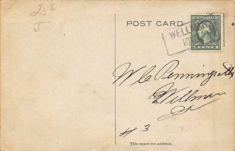 Wellman Iowa~N&M Good Clothes Store~RF Outcault Adv~Fleece Coats~June 1913 PC