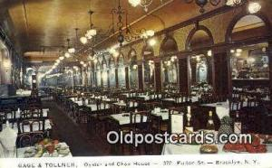 Gage & Tollner's Restaurant, Brooklyn New York, NY Postcard Post Card USA Old...