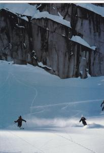 Helicopter Skiing in the Whistler Area, Whistler Mountain, British Columbia, ...