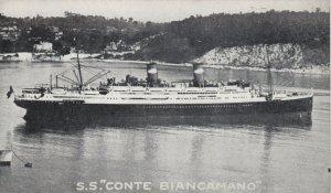 LLOYD SABAUDO ocean Liner CONTE BIANCAMANO , 1920-30s #2