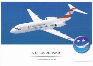 Austrian Airlines Fokker 70 WB 3305 Jet Airplane , 80-90s