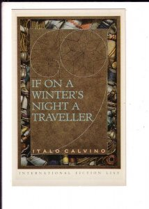If on a Winter's Night a Traveller Novel, Italo Calvino, Advertising Postcard