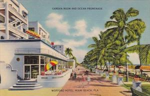 Florida Miani Beach Garden Room And Ocean Promenade Wofford Hotel
