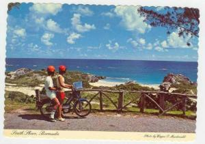 Couple on motorbike, South Shore, 50-70s