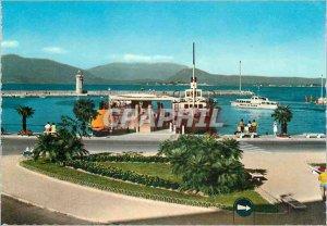 Modern Postcard Lake Garda Desenzano the harbor Boats