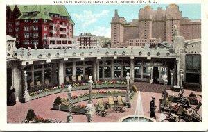 New Jersey Atlantic City View From Blenheim Hotel Garden