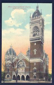 First Congregational Church Portland Oregon unused c1910