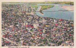 Kentucky Louisville Birds Eye View 1947 Curteich