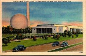 New York World's Fair 1939 Looking Across Grand Central Boulevard