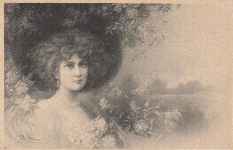 M.M.VIENNE : Female Head Portrait by Wichera , 1909 , #7