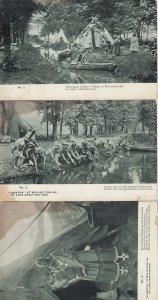 10 Card Set; HIAWATHA at Min-ne-ton-ka on Lake Chau-tau-qua, Minnesota 1906