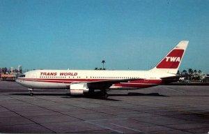 TWA Trans World Airlines Boeing B-767-205ER At Phoenix Sky Harbor Internation...
