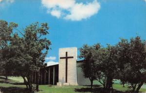 Kerrville Texas~Large Cross Façade~Open Air Chapel~Crippled Children Camp 1950s