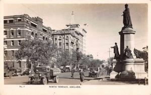 Adelaide Australia North Terrace Real Photo Antique Postcard J75453