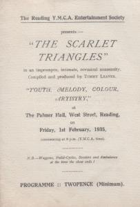 Reading YMCA Berkshire Society Comedy Nonsense 1935 Old Theatre Programme