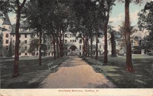 Illinois Il Postcard c1910 GODFREY Monticello Seminary Building