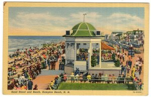 Hampton Beach, N.H., Band Stand and Beach