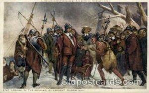 Landing of Pilgrims, Sargent American History Unused crease left top corner, ...