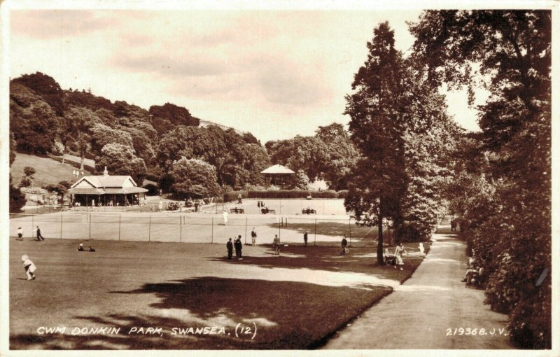 Wales CWMDonkin Park Swansea Real Photo 03.75
