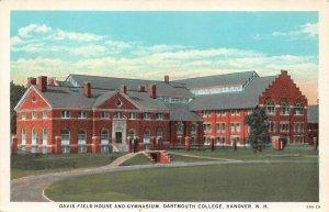 LPS92 Hanover New Hampshire Dartmouth College Davis Field House Gym Postcard
