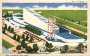 Hall of Fashion New York Worlds Fair 1939 Exhibition Unused