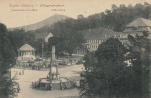 Teplitz-Schonau Teplice Czech R. Kriegerdenkmal