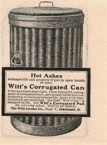 1903 Witt's Corrugated Can Original Print Ad 2T1-47