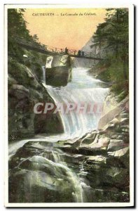 Old Postcard Cauterets The Waterfall Cerizet