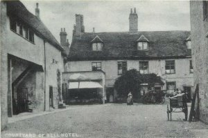 Thetford Bell Hotel courtyard repro postcard