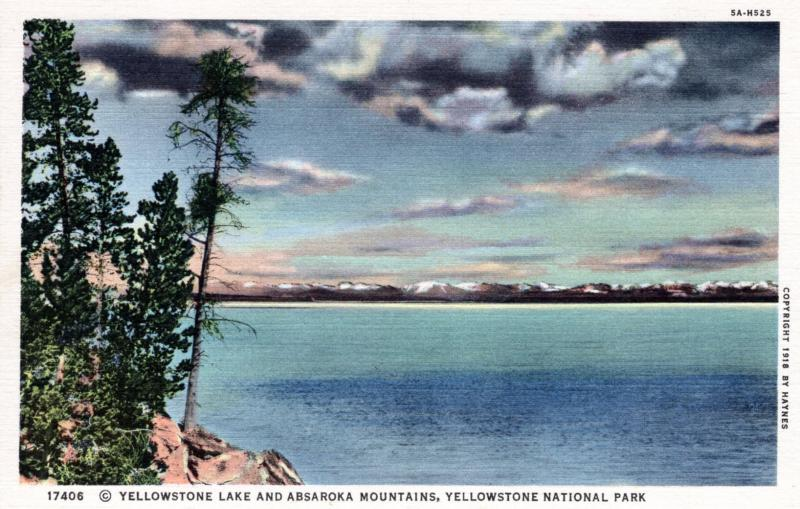 YELLOWSTONE NATIONAL PARK Haynes Linen Series. 17406.