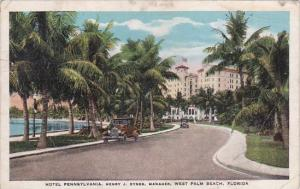 Hotel Pennsylvania Henry J Dynes Manager West Palm Beach Florida