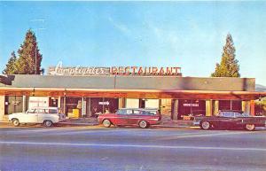 Mount Shasta CA Lamplighter Drive-In Restaurant Old Cars Postcard