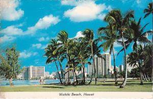 Waikiki Beach Honolulu Hawaii 1980