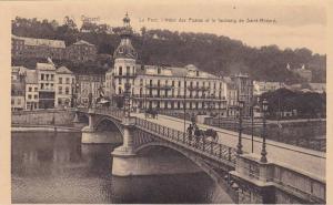 Dinant, Le Pont, l'Hotel des Postes et le faubourg de Saint Medard, Namur, Be...