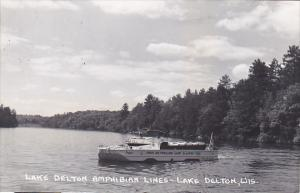 Lake Delton Amphibian Lines Lower Dells Wisconsin Real Photo