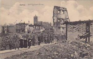 Nuns & Soldiers, Buildings Damage At Rethel (Ardennes), France, PU-1915
