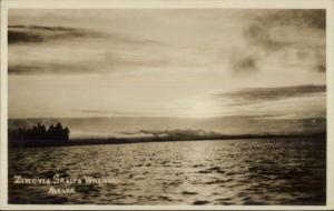 Zimovia Straits Wrangell AK c1910 Real Photo Postcard