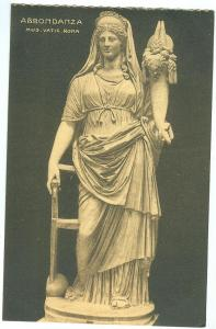 Abbondanza, Mus. Vatic. Roma, early 1900s unused Postcard